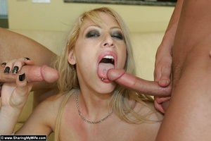 Blonde Busty Wife Candy Takes New Dick - XXX Dessert - Picture 16