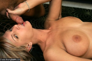 Blonde Slut Wife With Two Cocks - XXX Dessert - Picture 13