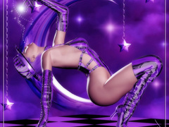 3d latex dressed girls going wild while getting - Picture 1