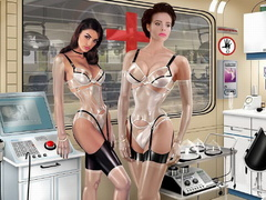 3d latex dressed girls going wild while getting - Picture 6