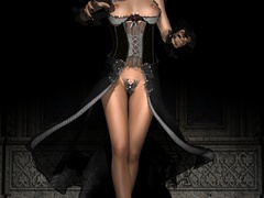 Adorable slutty 3d beauties in latex expsoing their - Picture 1