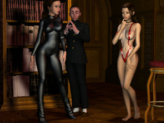 These 3d lusty babes in tight latex outfits know how - Picture 3