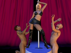 Sex starving 3d babes in latex going wild and showing - Picture 4