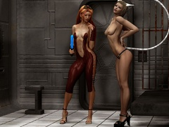 Sex starving 3d babes in latex going wild and showing - Picture 6