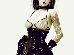 Horny 3d cuties in sexy lingerie and latex body suits - Picture 3