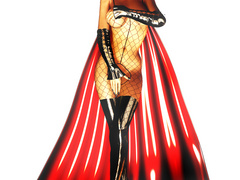 Stunning 3d bimbos in sexy latex uniform looking so - Picture 1