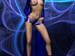 Stunning 3d bimbos in sexy latex uniform looking so - Picture 3