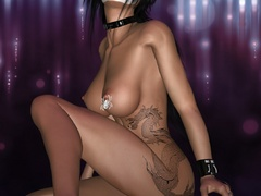 Awesome 3d pics of sex starving babes in latex outfit - Picture 4