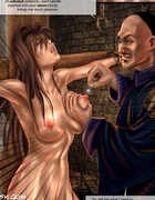 Sexy shaped brunette slave girl gets tortured by cruel chinese warlord.