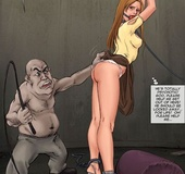 Brunette bimbo gets captured and tortured by cruel dwarf. Tags: Shaved
