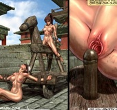 Two oriental slave chicks humiliated outdoors and being watched. Tags: