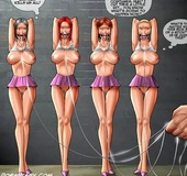 Lusty school janitor captured and humiliates 4 sexy girls. Tags: Bdsm