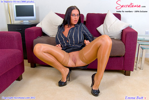 Busty office stunner in tan stockings pl - XXX Dessert - Picture 6