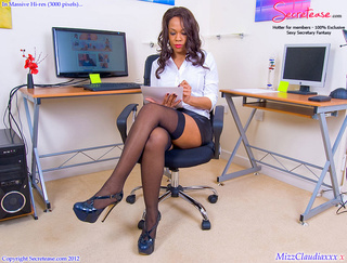 sexy shaped ebony secretary