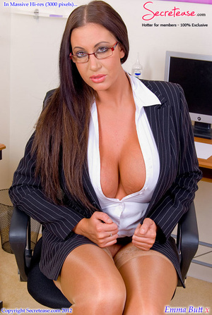Big boobied secretary in skin tone stock - XXX Dessert - Picture 2
