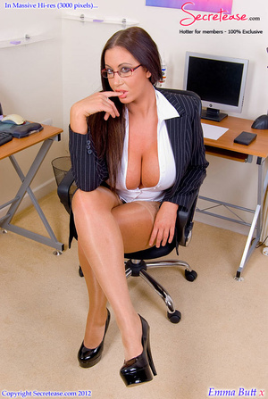 Big boobied secretary in skin tone stock - XXX Dessert - Picture 3