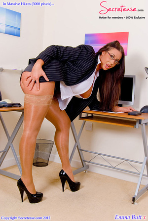 Big boobied secretary in skin tone stock - XXX Dessert - Picture 4