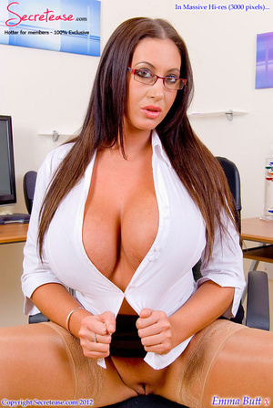 Big boobied secretary in skin tone stock - XXX Dessert - Picture 9