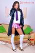 horny secreatry shiny miniskirt