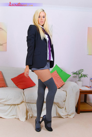 Sex hungry blonde college girl in pink p - XXX Dessert - Picture 2