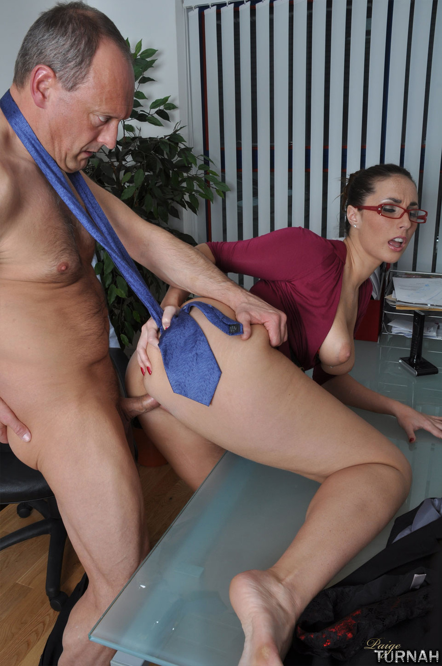 Lucky grey senior fucks his hot christmas present - 3 part 1