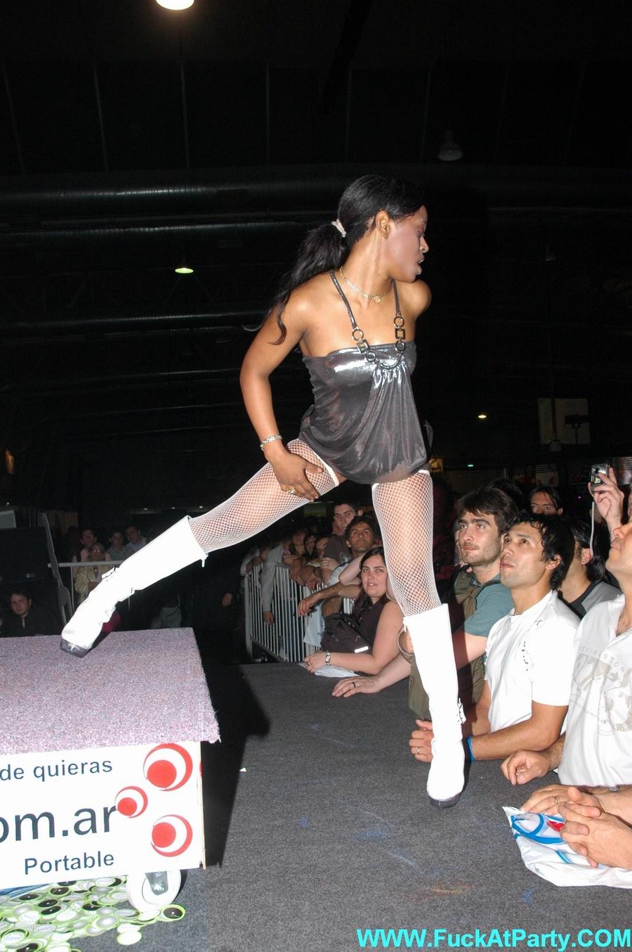 Ebony groep sex party