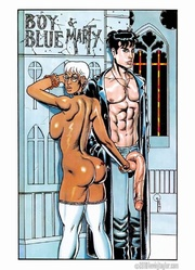 white haired adult comics