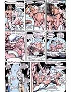 Xxx cartoon pics of busty bimbo in white stockings gets her love holes