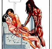 Xxx comics pics of enormous toon peckers stretching tight pussies and