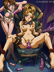 Perfect boobs naked anime beauties pleasing their - Picture 1