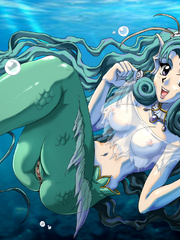 Stunning manga bimbos seductively posing in sexy - Picture 2