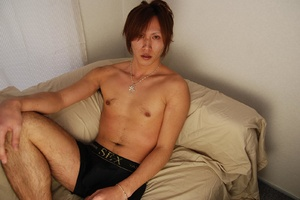 Sexy shaped asian dude slowly undressing - XXX Dessert - Picture 4