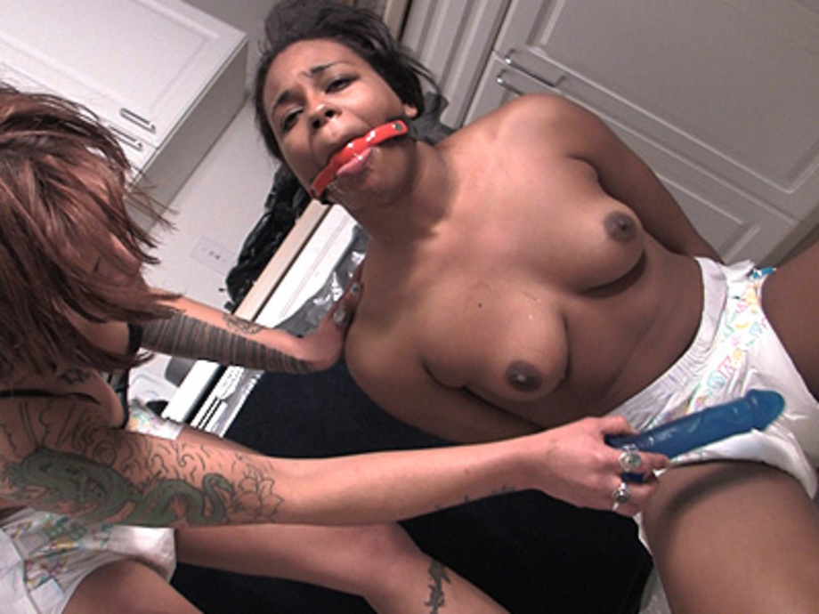 Gag Balled Black Slave Girl Gets Undressed By Mistress A -6068