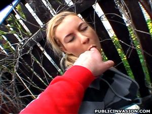 Lusty blonde gets her tits manhadled bef - XXX Dessert - Picture 15