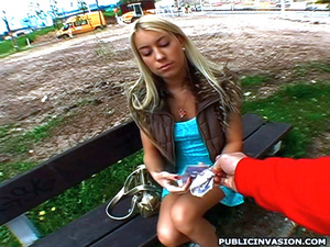 Blonde teen girl sucking stranger's cock - XXX Dessert - Picture 5