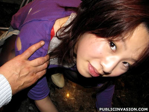 Petite asian chick flashing her pussy an - XXX Dessert - Picture 2