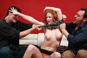 Redhead porn between sexy carrot and two - XXX Dessert - Picture 2