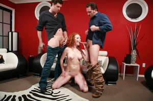 Redhead porn between sexy carrot and two - XXX Dessert - Picture 4