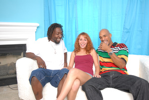 Redhead sex initiated by two sex-starvin - XXX Dessert - Picture 1