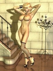 Amazing cartoon porn with blonde hottie showing her - Picture 10