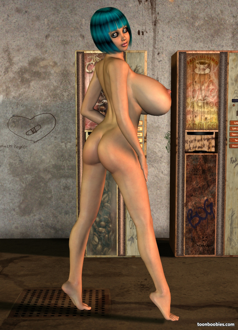 Amazing 3D Model Showing Her Big Tits - Silver Cartoon -9880