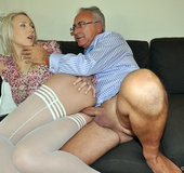 Her blonde forms, tender skin and pantyhose pic post have exceeded all