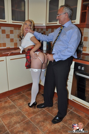 Blssed fair-haired crummy in white stock - XXX Dessert - Picture 9