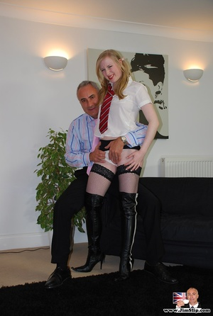See what she is doing with that old fart - XXX Dessert - Picture 5