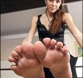 Those foot fetish of hers would be much tastier if her legs and herself