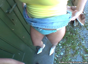 This busty and lusty chick in short mini - XXX Dessert - Picture 13