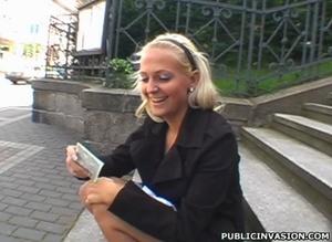 Slutty teen girl tasting stranger's cum  - Picture 2