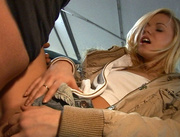 lovely blonde chick pleasing