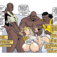 Blonde cartoon wife with epic boobs gets gang banged - Picture 5