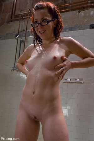 The male peeing is over, so the one is allowed to do girl pissing herself - XXXonXXX - Pic 12